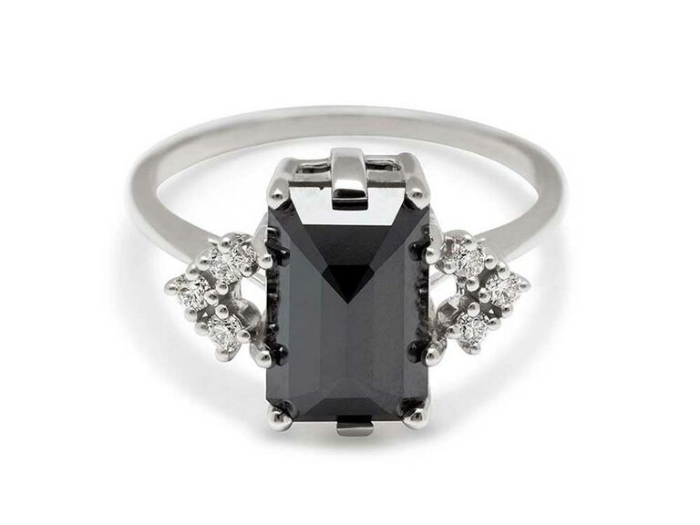 25 Black Diamond Engagement Rings That Are Seriously Trendy