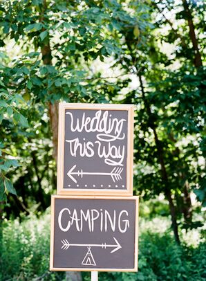 Chalkboard Direction Signs