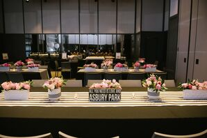 Modern Black and White Reception at The Asbury Hotel