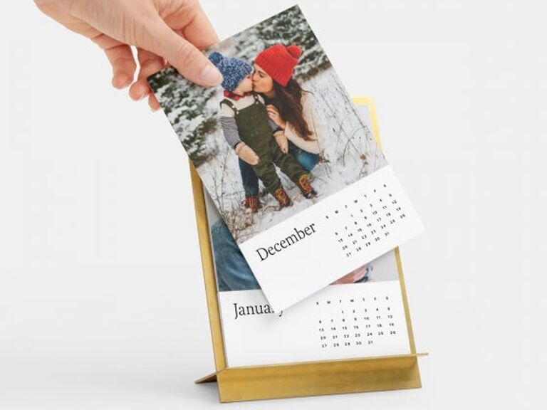 Personalized desk calendar Christmas gift for father-in-law