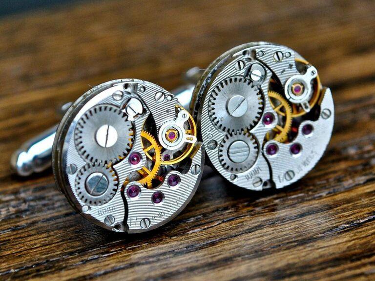 watch mechanism cuff links