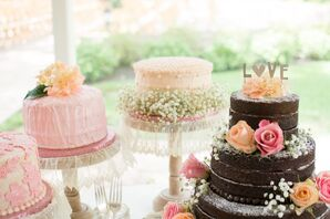 Homemade Single and Triple Layer Wedding Cakes