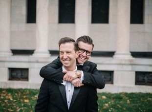 For their wedding at The Admiral Room, James and Ryan wanted a sleek, modern affair, but it was also of utmost importance that the day feel personaliz