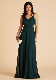 Birdy Grey Lin Dress in Emerald Halter Bridesmaid Dress