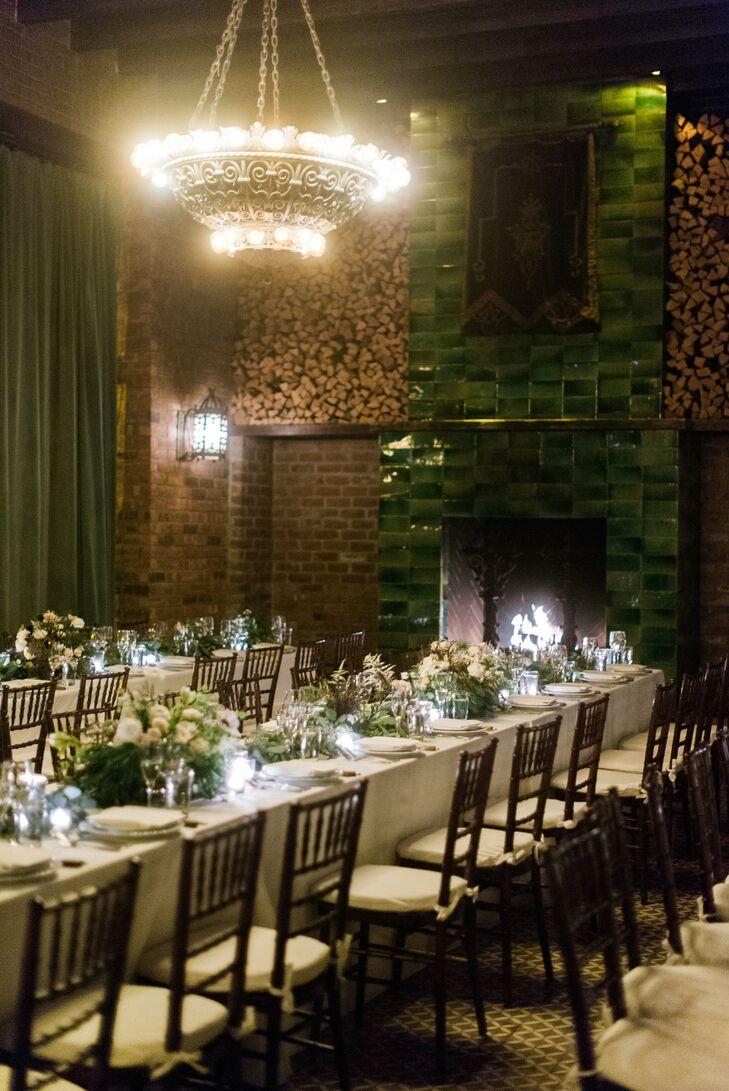 Intimate, Romantic Bowery Hotel Reception