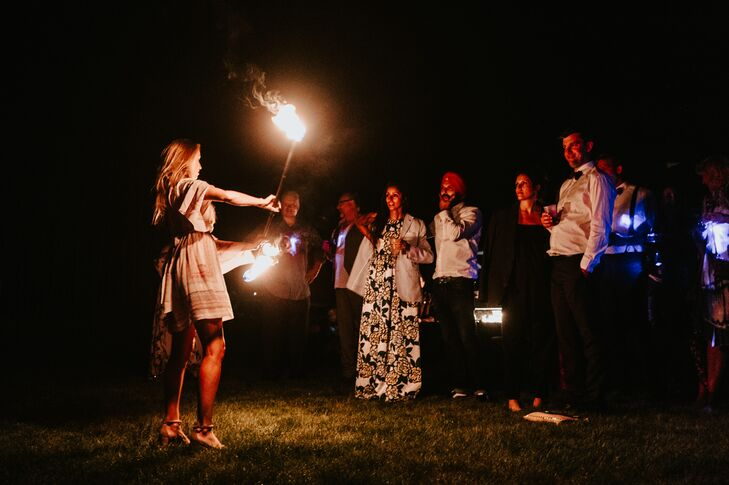 Fire Spinning Reception Performance