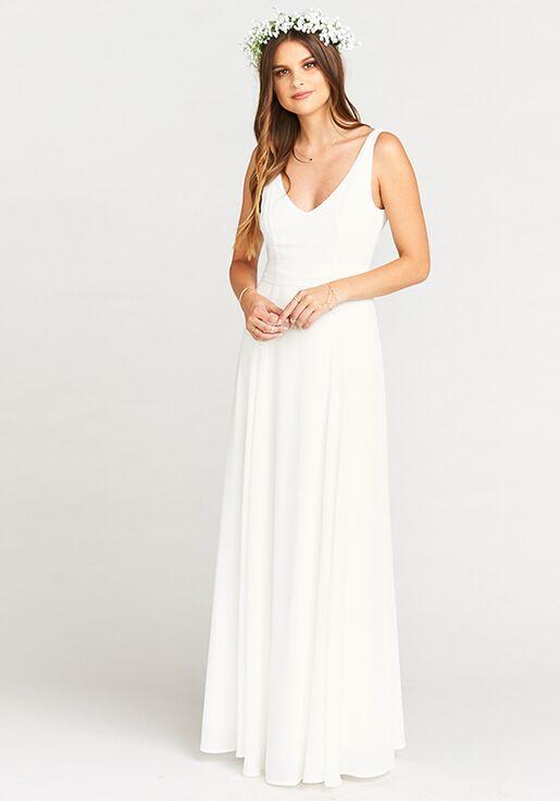 4f22f66c3ef Show Me Your Mumu Jenn Maxi Dress - Ivory Crisp V-Neck Bridesmaid Dress