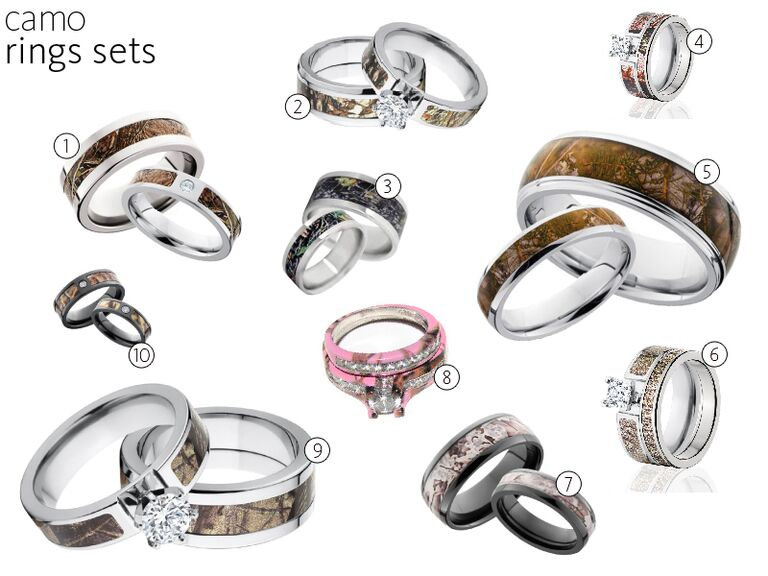 Camo Wedding Rings Camo Engagement Rings