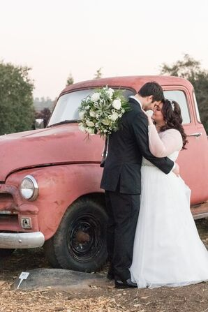 Bride and Groom at The Flower Farm Inn in Loomis, California