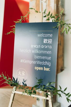 Welcome Sign at Multicultural Vancouver Wedding