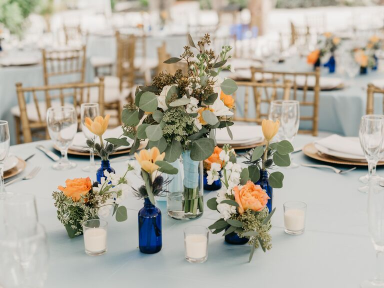 Wedding Centerpieces Glass Bottles
