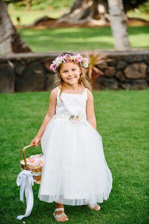 Tropical Flower Girl in Oahu Wedding