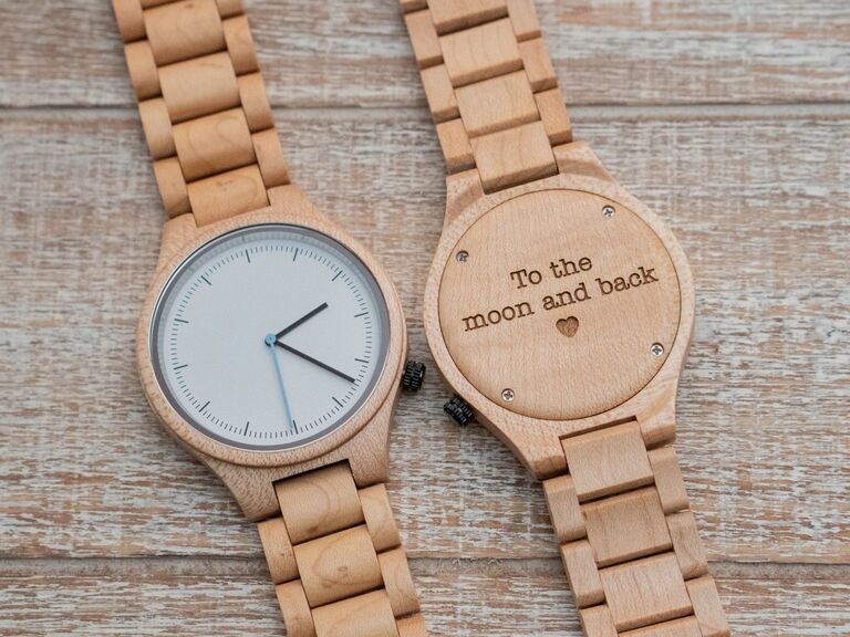 Wooden watch cute Valentine's Day gift for him