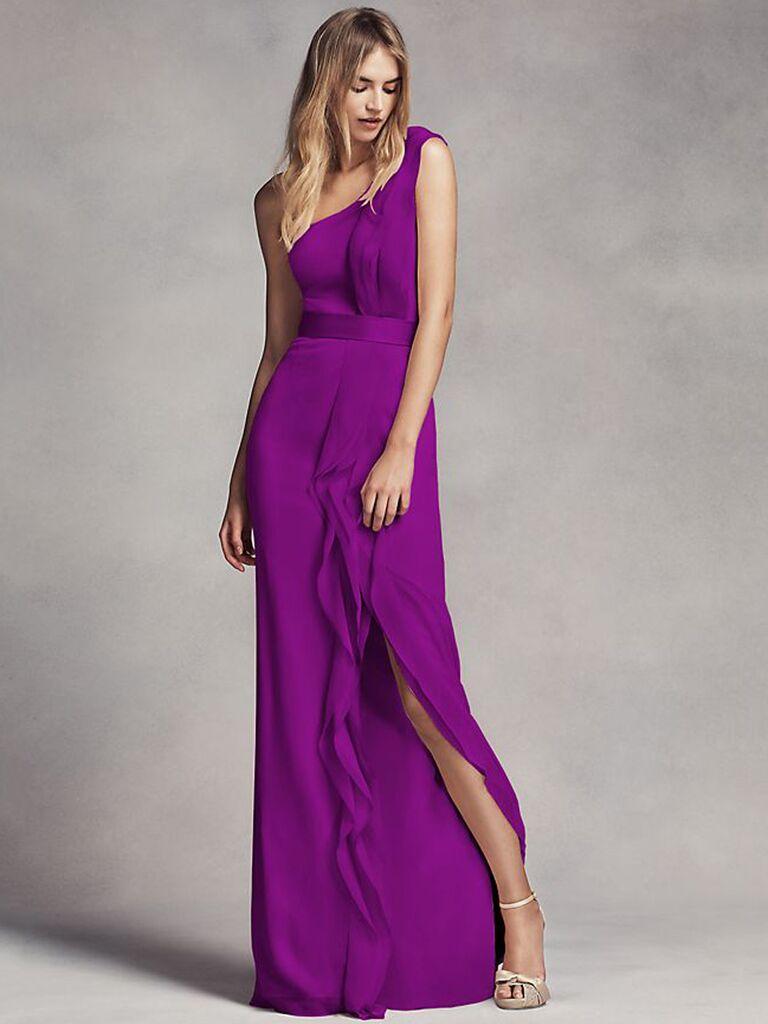 Royal purple bridesmaid dress