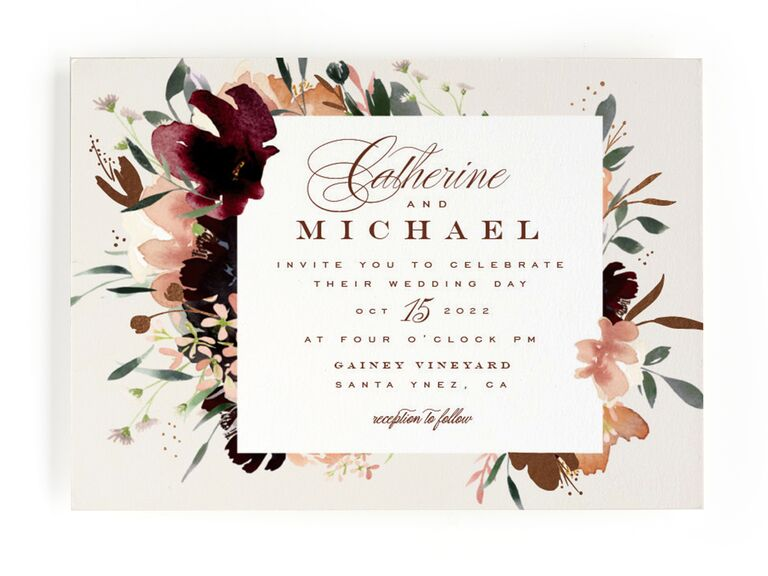 34 Fall Wedding Invitations That Embrace Autumn