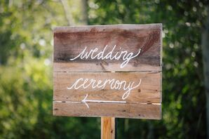 Handcrafted Wooden Sign for Mountaintop Wedding