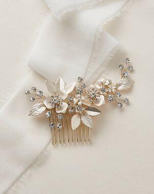 Dareth Colburn Kacie Floral Bridal Comb (TC-2437) Gold, Silver Pins, Combs + Clip