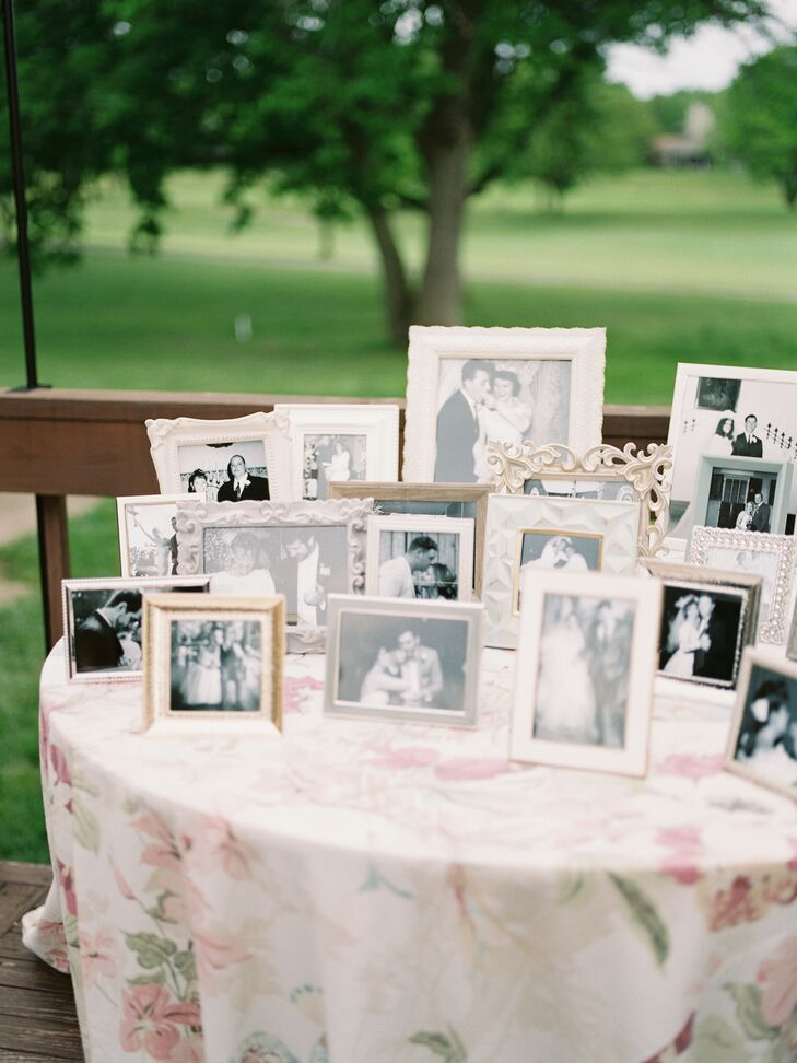 Vintage Wedding Portraits on Display at Ohio Wedding
