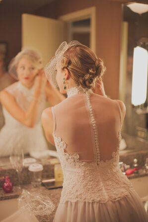 Sheer Back Bridal Gown