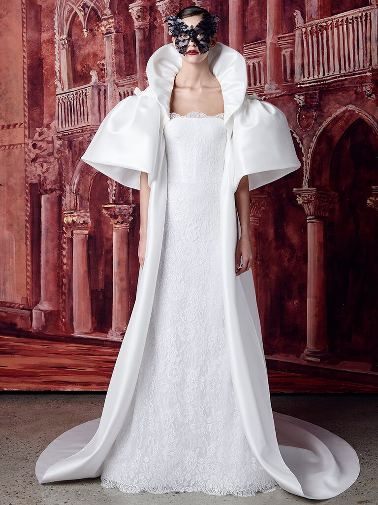 Isabelle Armstrong lace dress with overcoat