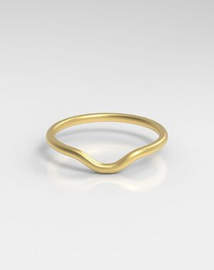 HOLDEN The Curved Platinum, Rose Gold, White Gold Wedding Ring