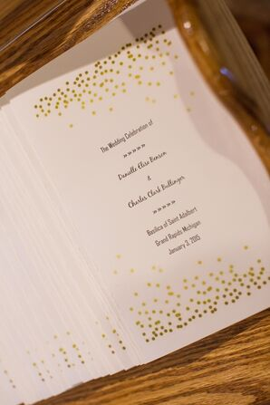 Gold-and-White Wedding Programs