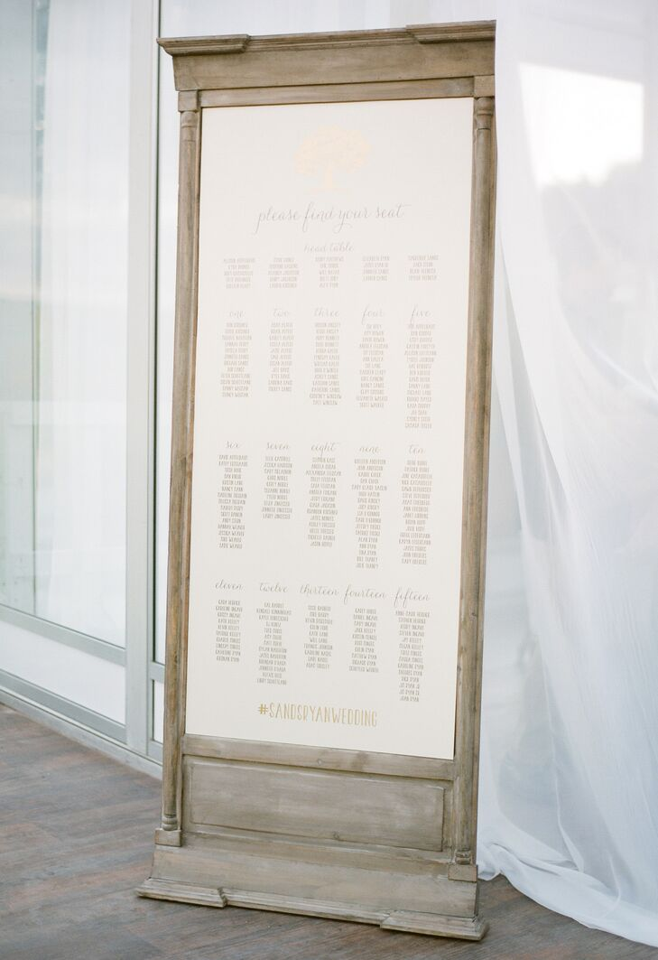 Elegant Wood Seating Chart