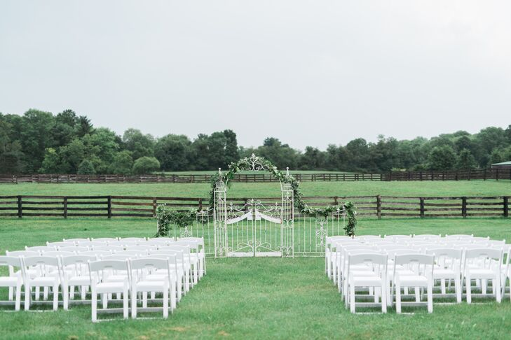 Ceremony with an Antique Gate Altar