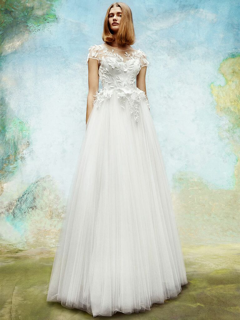 Viktor&Rolf wedding dress tulle a-line with lace bodice