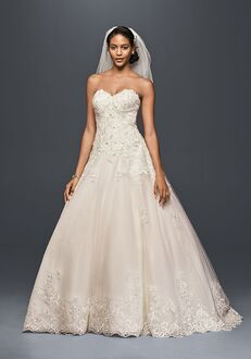 David's Bridal Jewel Style V3836 Ball Gown Wedding Dress