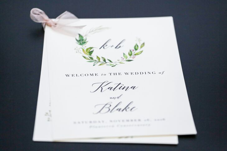 Simple yet classic invitations set the tone for an elegant celebration.