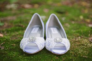 Lavender and Lace Bridal Shoes