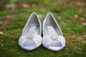 Lavender and Lace Bridal Shoes