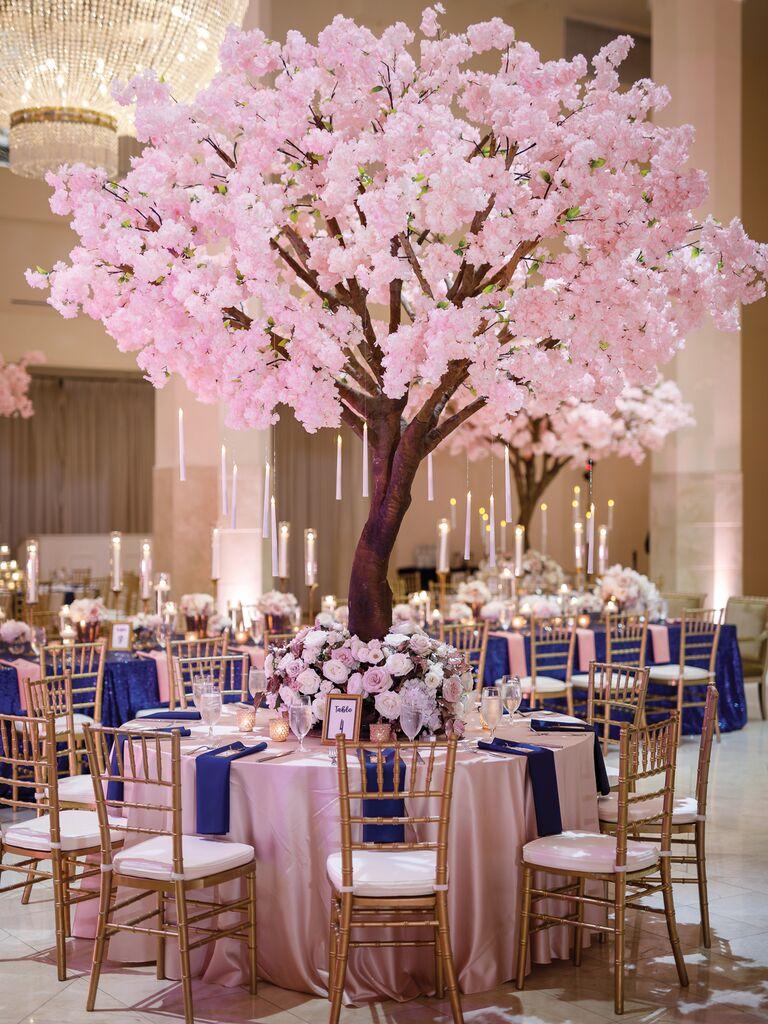 spring wedding centerpieces cherry blossom trees