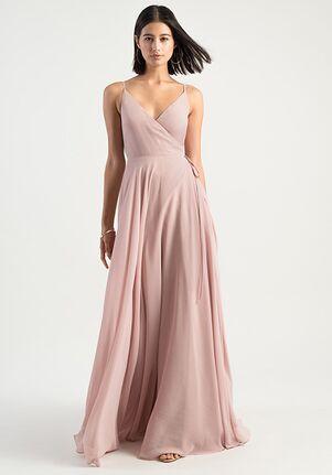 Jenny Yoo Collection (Maids) James V-Neck Bridesmaid Dress