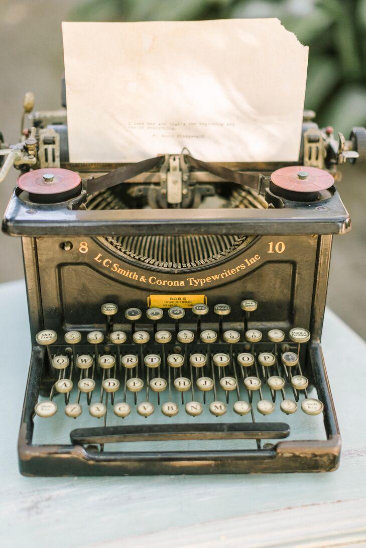 Vintage Typewriter Gatsby Decor