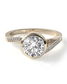 James Allen Elegant Round Cut Engagement Ring