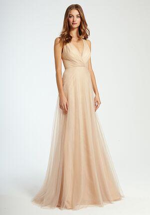 Monique Lhuillier Bridesmaids 450341 V-Neck Bridesmaid Dress