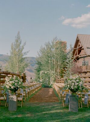Rustic Outdoor Ceremony at The Ritz-Carlton, Bachelor Gulch