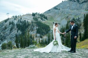 Lace Pronovias Mermaid Gown with Dramatic Train