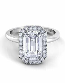 Danhov Emerald Cut Engagement Ring