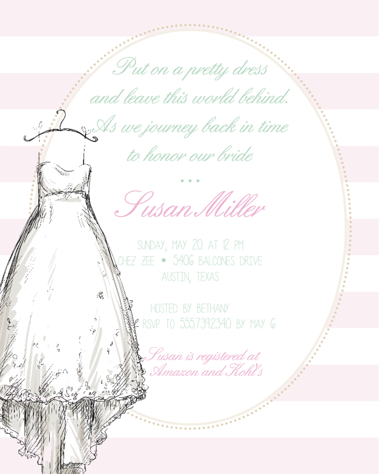 vintage bridal shower invitation wording