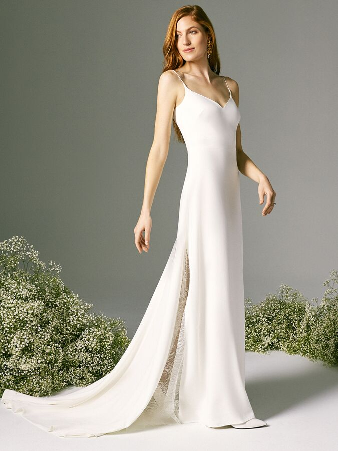Savannah Miller sleeveless dress with lace godet