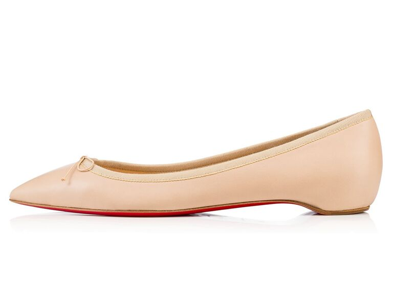 timeless design e648b f127f Shop Christian Louboutin's New Nude Flat Collection