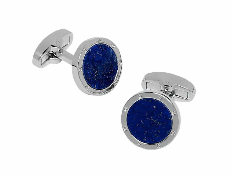 Sapphire blue cufflinks