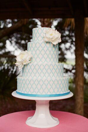 Turquoise Fondant Cake