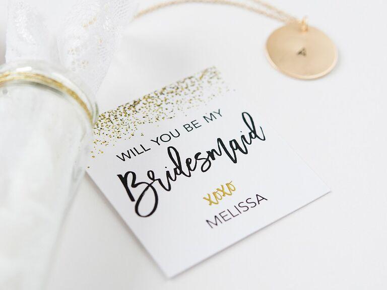 bridesmaid proposal gift tag