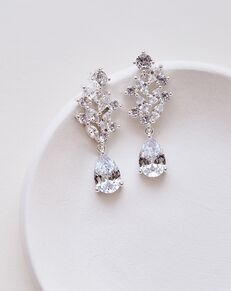 Dareth Colburn Anna Floral CZ Earrings (JE-4146) Wedding Earring photo