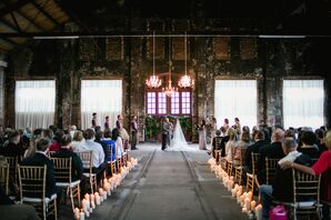 And Industrial-Glam Ceremony at The NP Event Space in Brainerd, Minnesota