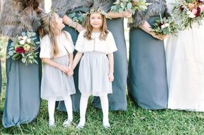Neutral-Hued Flower Girl Dresses